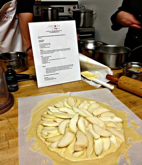 Pear galette raw